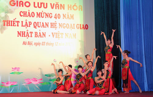 "Dance ""Lua tinh Tay Nguyen"" of the PPA's students"