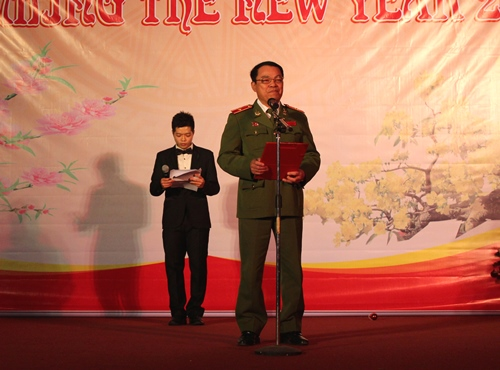 Major General, Dr. Dang Xuan Khang, Vice President of the PPA spoke the Opening Speech in English