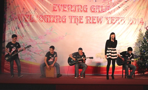 "Thao Vy and the PPA Guitar Club performed ""Rolling in the deep"""