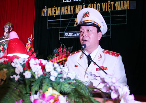 Lieutenant General, Prof.Dr. Nguyen Xuan Yem, Secretary of Party Committee of the PPA, President of the PPA spoke at the Ceremony.