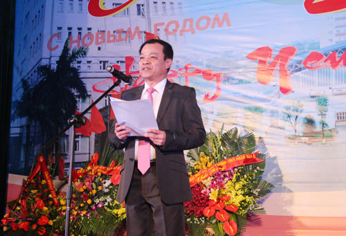 Major General, Dr. Dang Xuan Khang, Vice President of the PPA gave the opening speech at the Evening Gala