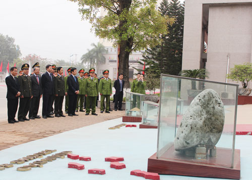 President Truong Tan Sang and representatives visited the mini sovereignty area at the PPA
