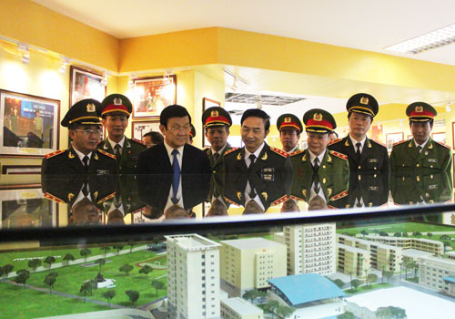 President Truong Tan Sang and representatives visited PPA's traditional museum