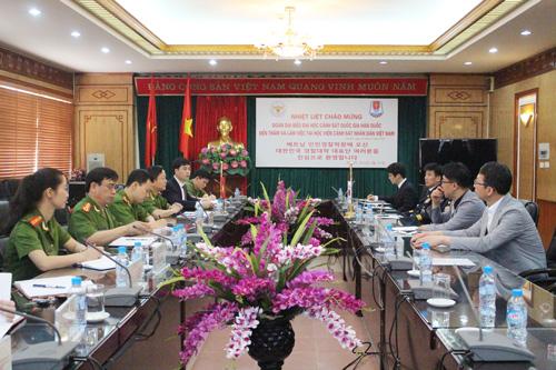 Hội đàm giữa Học viện CSND và Đại học Cảnh sát Quốc gia Hàn Quốc