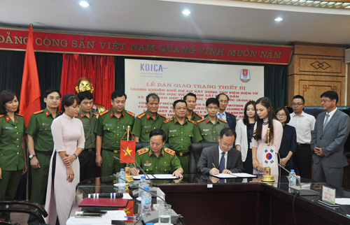 Representatives of the PPA and representatives of KOICA signed the Equipment Handover Statement of the project