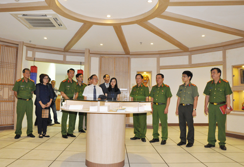 The representatives visited the Korean Culture Hall which was built within the framework of the project