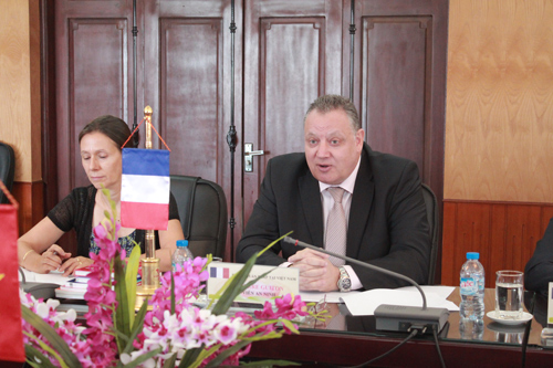 2. Mr. Pierre Guiton - Security Attaché of French Embassy in Vietnam mentioned some cooperation activities between the PPA and French partners in the coming time.