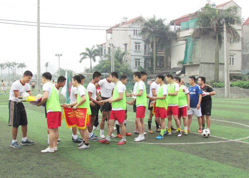 The match showed the close relationship between the two Academies.