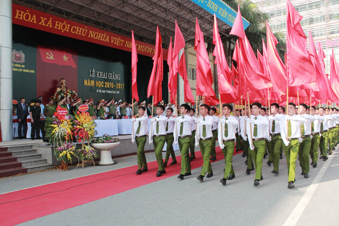 Red flag parade at the Opening Ceremony