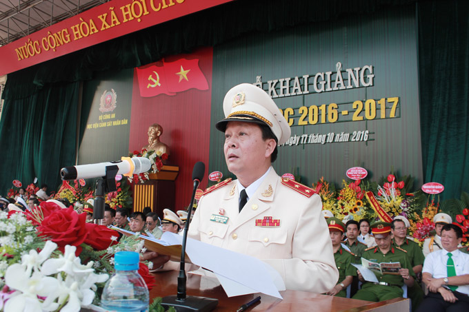 Lieutenant General, Prof. Dr. Nguyen Xuan Yem, President of the PPA expressed determination to build the PPA to become the key higher education of the Nation in 2018