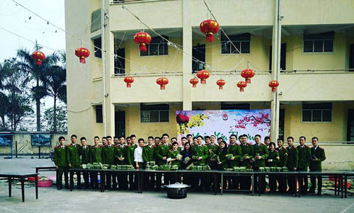 The PPA's teachers and students together participated in Tet activities