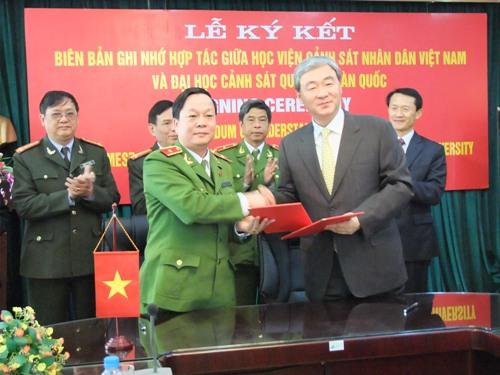 Học viện CSND ký kết Bản ghi nhớ hợp tác với Đại học Cảnh sát Quốc gia Hàn Quốc