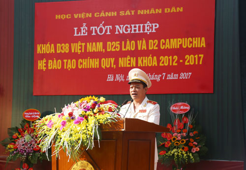 Major General, Assoc. Prof. Dr. Dang Xuan Khang, Vice President of the PPA delivered the speech