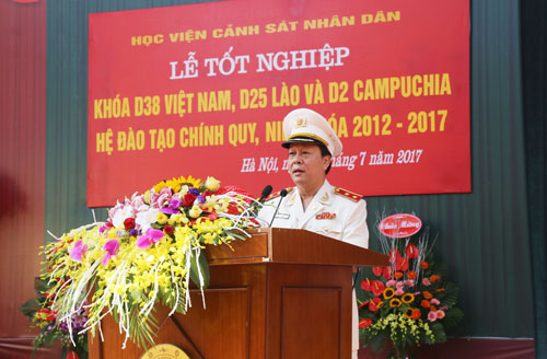 Lieutenant General, Prof. Dr. Nguyen Xuan Yem, President of the PPA spoke at the ceremony