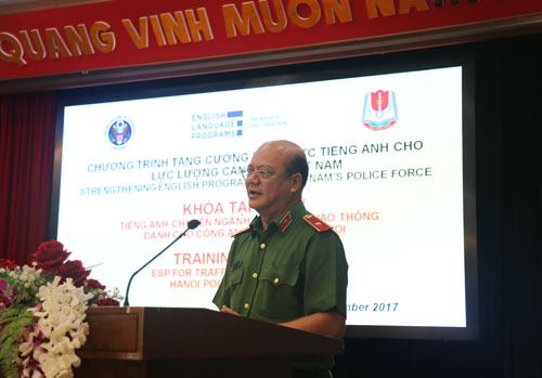 ESP training course for Hanoi Traffic Police