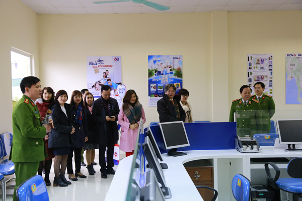 Delegates from the Vietnam - Germany Friendship Hospital visited the Economic Police Department.