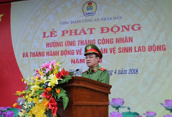 Major General, Associate Professor Dr. Dang Xuan Khang, Vice President of the PPA spoke at the ceremony