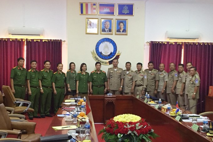 PPA's President pays working visit at Police Academy of Cambodia